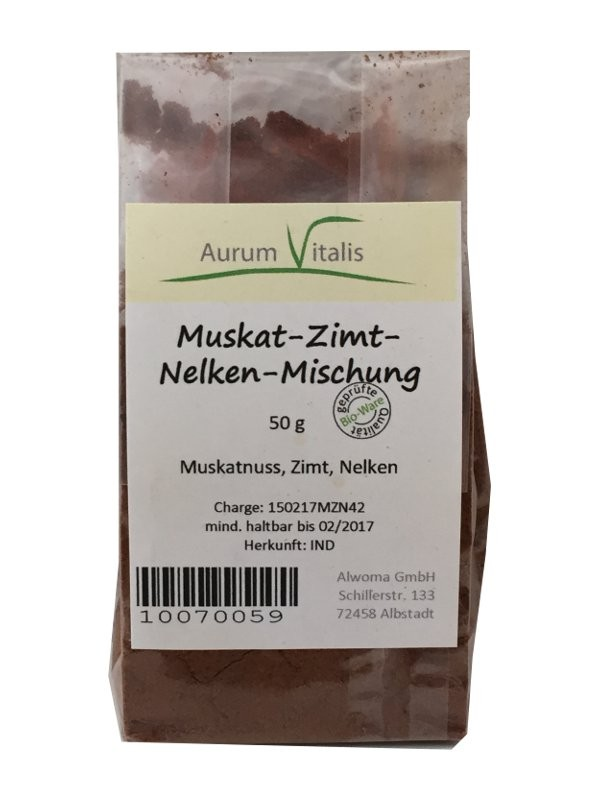 Muskat-Zimt-Nelken-Mischung 50g