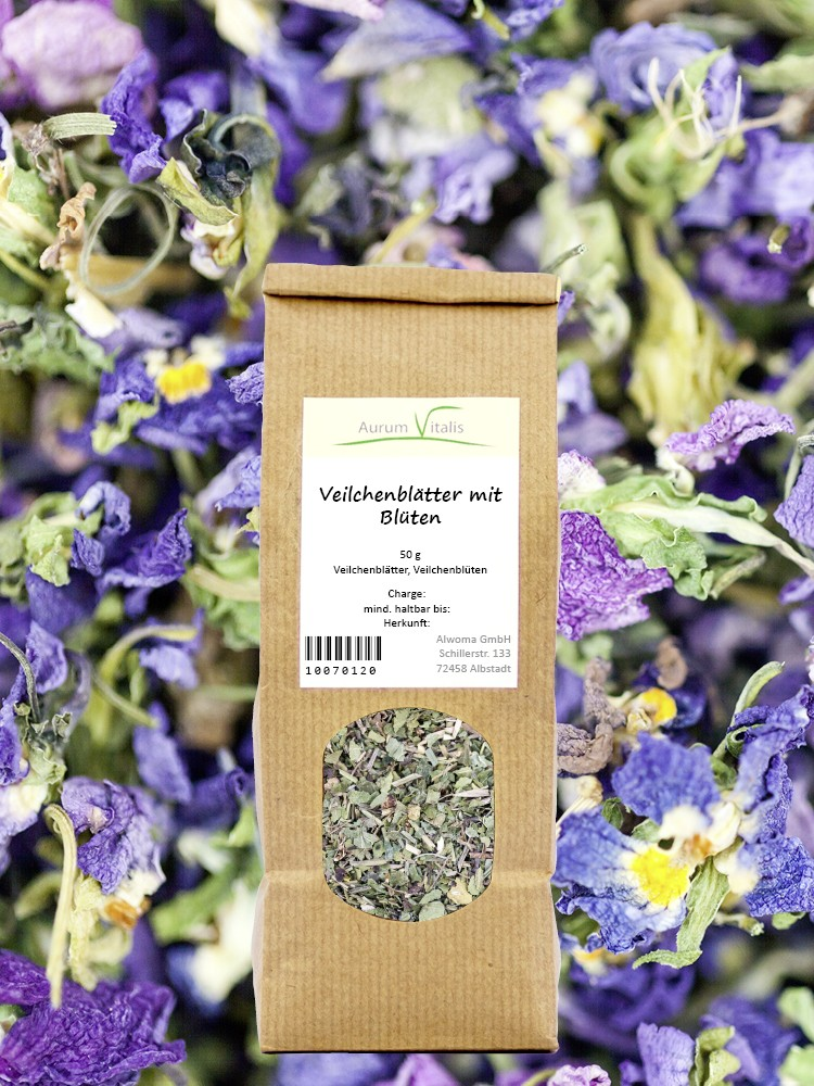 Veilchen-Blätter mit Blüten 50g
