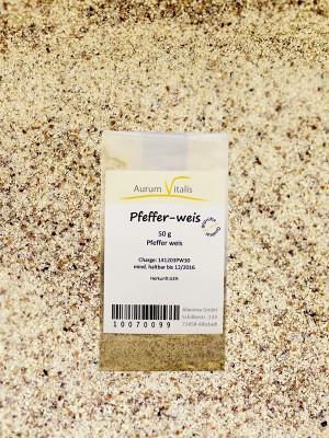 Pfeffer weiß 50g